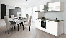 Küche Küchenzeile Küchenblock Einbauküche Komplettküche 240 cm weiß respekta