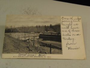 W. H. Truslow's Duck Farm Stroudsburg  Pa., Postcard w Ben Franklin Stamp 2/3/21