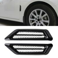 Pair Black Car SUV Air Flow Fender Side Vent Decor Stickers Accessory