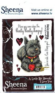 I LOVE YOU (TERRIER DOG) - Crafter's Companion - Unmounted A6 Rubber Stamp