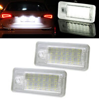 Licence Number Plate LED Light Lamp For Audi A3 S3 A4 B6 B7 A6 S6 A8 RS4 Bright