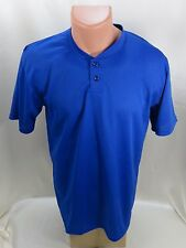 Football Jersey Athletic Short Sleeve Shirt Blue Size S Small SOFFE
