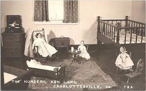 RPPC Charlottesville VA The Nursery at Ash Lawn Doll Toys 1940s