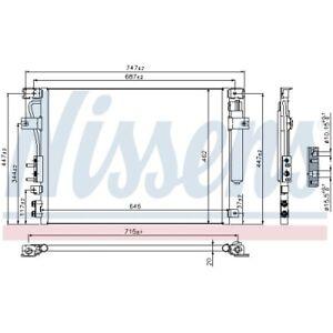 1 Condenseur, climatisation NISSENS 940348 convient à CHRYSLER LANCIA