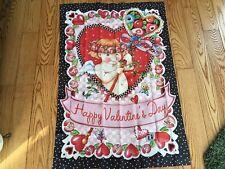 New Mary Engelbreit Valentine Flag 38� X 25�