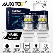 Auxito 2x 3157 3156 6500k Super White Led Back Up Reverse Tail Brake Lights Bulb