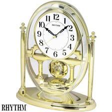 Rhythm 7609/9 Horloge de Table Quartz Analogique avec Pendule doré à