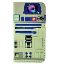 Star Wars R2D2 Robot Leather Wallet Credit Card Stand Pouch Case For Iphone 4 4S