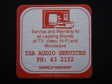 ISA AUDIO SERVICES TV VIDEO HI-FI MICROWAVE BARKLY HWY 432153 COASTER