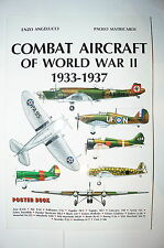 Combat Aircraft of World War II 1933-1937 Poster Book Reference Book