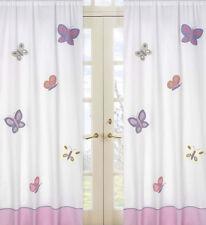 Sweet Jojo Pink Purple Butterfly Kid Window Treatment Panels Curtains Coverings