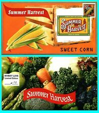 Summer Harvest Sweet Corn First Day Cover with Color Cancel
