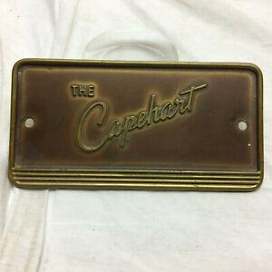 Vintage The Capehart Radio Metal Name Plate