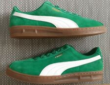 Puma TK Indoor Trainers Size 7-5 Green Suede BNIB