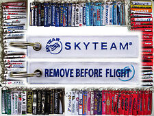 Keyring SKYTEAM ALLIANCE Airlines Remove Before Flight tag keychain