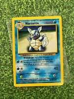 ⭐️ Wartortle Base Set Pokemon Card Wizards WotC Game Freak Nintendo 1999 🎏