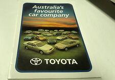 2000 TOYOTA Range  Australian   Sales  Brochure CELICA MR2 Landcruiser Hilux etc