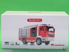1:43 Wiking 043142 Feuerwehr - Rosenbauer AT (MAN TGM) Blitzversand DHL-Paket