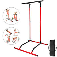 Portable Pull Up Dip Station Gym Bar Power Tower Dip Gym w/bag Training Machine