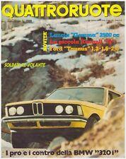 QUATTRORUOTE 2/1976 BMW 320i – JEEP COMMANDO DIESEL – PEUGEOT 504 6V COUPE'