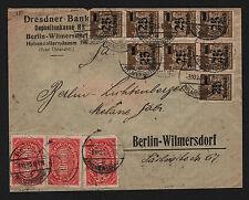 OPC 1923 Germany Berlin Dresdner Bank Inflation Perfins Dr.B. X20 Mi#283 X3 257