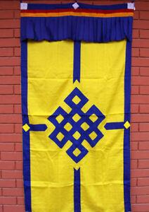Tibetan Buddhist Endless Knot Door Curtain, Meditation Room Divider