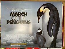 March of the Penguins (2005) Morgan Freeman Original UK Quad Film Poster