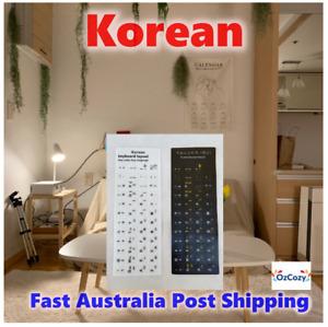 OzCozy Waterproof PVC Korean Letters Keyboard Stickers Cover Sticker