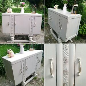 Antique Deco Painted Sideboard Cabinet Dresser Shabby Chic Frenchic Stone Rosie