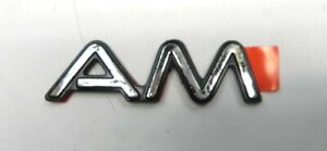 1989-91 PONTIAC GRAND AM NAME PLATE OUTER PANEL FRONT DOOR, NOS OEM GM: 22553585