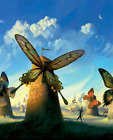 Print - Butterfly Windmills by Salvador Dali