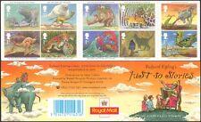 GB 2002 Kipling/Stories/Animals/Leopard/Butterfly/Rhino/Cat/Elephant bklt b5029