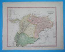 1849 RARE DETAILED ORIGINAL MAP COLOMBIA VENEZUELA ECUADOR PANAMA BOGOTA QUITO