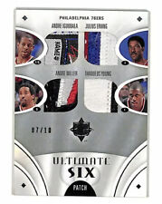 2008-09 Upper Deck Ultimate Six 76ers laundry tag patch card 7/10 Iverson Erving