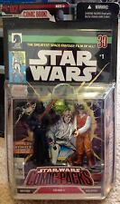STAR WARS Comic Packs #1 DARTH VADER REBEL OFFICER Dark Horse Comic FIGURES TOYS