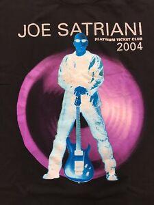 Joe Satriani Satch Platinum Ticket Club 2004 T Shirt Rock R&B RARE Official