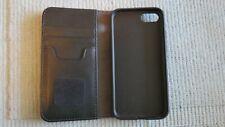 Moshi Overture Leather Iphone 7 or 8 Portfolio Case Wallet Black