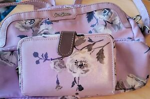 Cath kidston bag and matching purse. Pink with flowers. Excellent Condition