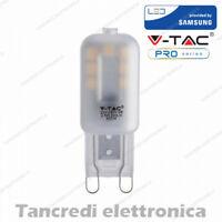 Lampadina led V-TAC 2,5W G9 bianco naturale 4000K VT-203 sku 244 faretto VTAC