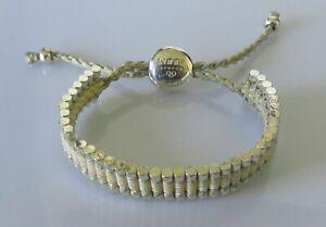 Links of London Bracelet - Sterling Silver Cord Friendship Bracelet
