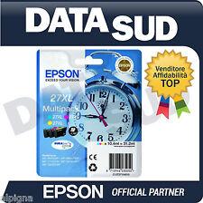 EPSON MULTIPACK 27XL ORIGINALE SVEGLIA CARTUCCE INK-JET C/M/Y WF-3620DWF 7110DTW