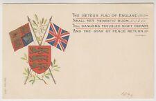 Military postcard - The Meteor Flag of England - Heraldic - Patriotic