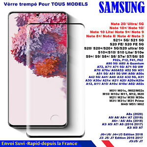 VERRE Trempé Samsung S21 S21+ S20 S20+ ultra F12 F02s A72 A52 A32 M62 F62 M12