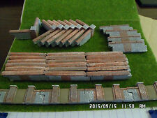 oo gauge scale train set railway layout 34 pieces garden walling