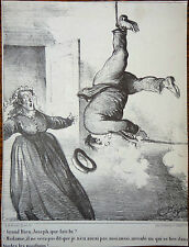 A. DARJOU Le CHARIVARI Caricatures Humour XIXe Fusil Chassepot