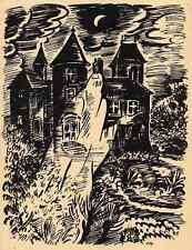 Das SCHLOSS - Frans MASEREEL -  Le CHATEAU -  1947 Der SCHLOSSGEIST
