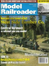 Model Railroader Feb 00 West Side Lumber ACF Center Flow Pennsy Decapod Vermont