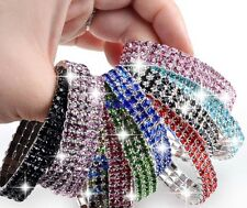 10PC Wholesale 3Rows Crystal Rhinestone Lady Stretchy Bangle Bracelet Mix color