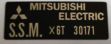 KAWASAKI H1D 500 H2 750 H2A 750 MITSUBISHI ELECTRIC REGULATOR WARNING DECAL
