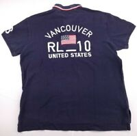 Polo Ralph Lauren Olympic Team USA Polo Shirt Vancouver 2010 Womens Sz Large
